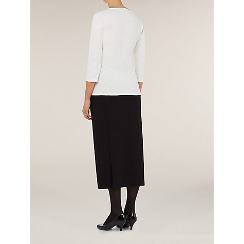 Buy Windsmoor Ponte Roma Long Skirt, Black Online at johnlewis.com