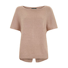 Buy Mint Velvet Split Back Knit Top, Pale Pink Online at johnlewis.com