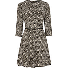 Buy Oasis Leopard Long Sleeve Dress, Animal Online at johnlewis.com
