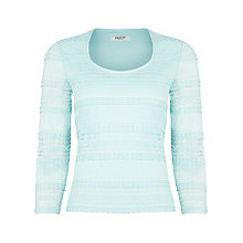 Buy Precis Petite Stripe Lace Jersey Top, Blue Online at johnlewis.com