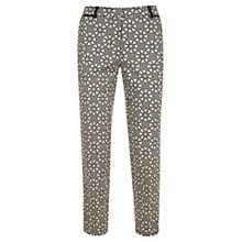 Buy Mint Velvet Melissa Print Capri Pants, Black / Ivory Online at johnlewis.com