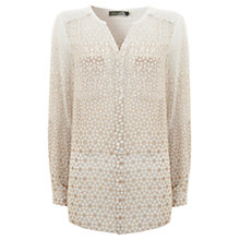 Buy Mint Velvet Carli Print Wrap Back Blouse, Ivory / Nude Online at johnlewis.com