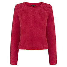 Buy Warehouse Crop Chenille Jumper, Bright Red Online at johnlewis.com