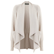 Buy Mint Velvet Waterfall Front Jacket, Stone Online at johnlewis.com