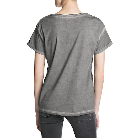 Buy Mango Sequin Animal T-Shirt, Light Pastel Grey Online at johnlewis.com