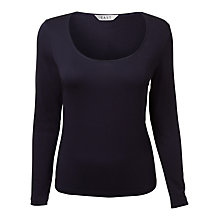 Buy East Long Sleeve Jersey Top, Navy Online at johnlewis.com