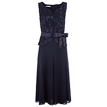 Buy Jacques Vert Cornelli Fit & Flare Dress, Blue Online at johnlewis.com