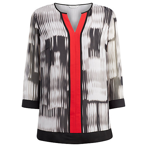 Buy Windsmoor Codice Print Tunic Top, Grey Online at johnlewis.com