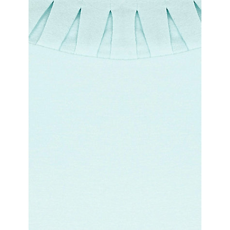 Buy Precis Petite Pleated Detail Jersey Top, Aqua Online at johnlewis.com