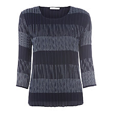 Buy Windsmoor Stripe Crinkle Top, Blue Online at johnlewis.com
