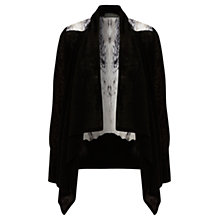 Buy Mint Velvet Billlie Print Cardigan, Black Online at johnlewis.com