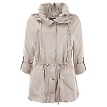 Buy Mint Velvet Short Parka, Putty Online at johnlewis.com