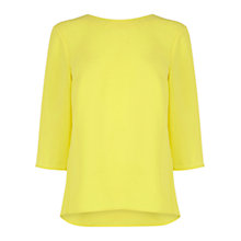 Buy Warehouse Elbow Sleeve Top, Yellow Online at johnlewis.com