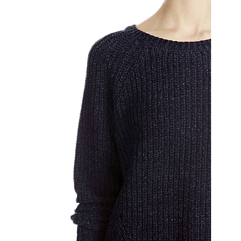 Buy Warehouse Cropped Chenille Jumper, Navy Online at johnlewis.com