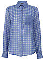 Warehouse MIxed Check Shirt, Blue