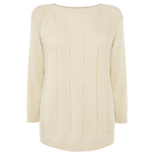 Buy Warehouse Mix Gauge Chevron Jumper Online at johnlewis.com