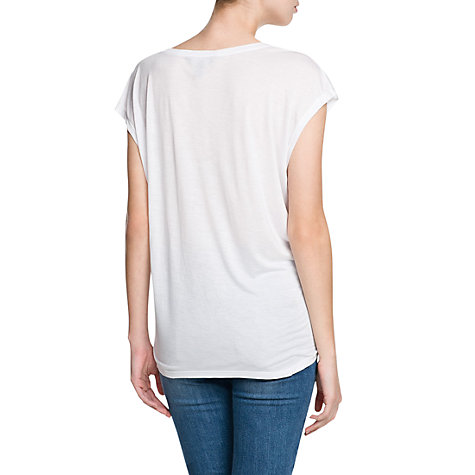 Buy Mango Jungle T-Shirt, White Online at johnlewis.com