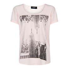 Buy Mango City Slub T-Shirt, Medium Pink Online at johnlewis.com