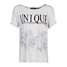 Buy Mango Unique T-Shirt, Light Pastel Grey Online at johnlewis.com