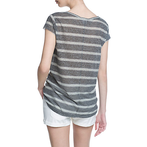 Buy Mango Striped T-Shirt, Dark Grey Online at johnlewis.com