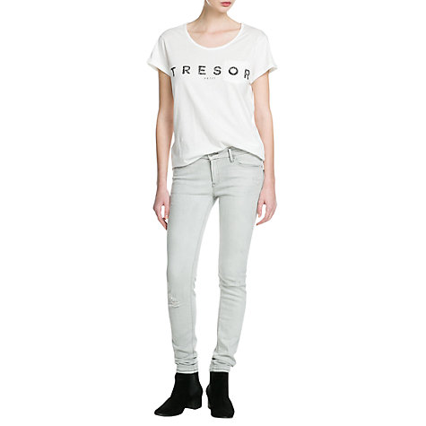 Buy Mango Tresor T-Shirt, White Online at johnlewis.com