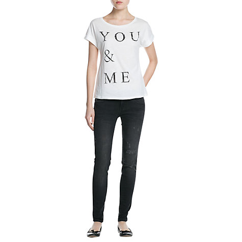 Buy Mango You & Me T-Shirt, White Online at johnlewis.com