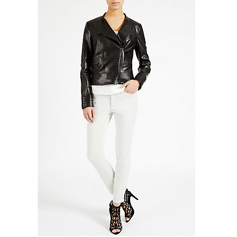 Buy Fenn Wright Manson Leather Biker Jacket, Black Online at johnlewis.com