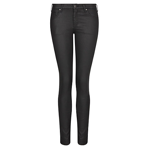 Buy Mango Super Slim Belle Jeans, Black Online at johnlewis.com