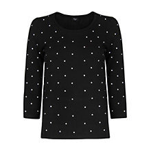 Buy Mango Polka Dot Top, Black Online at johnlewis.com
