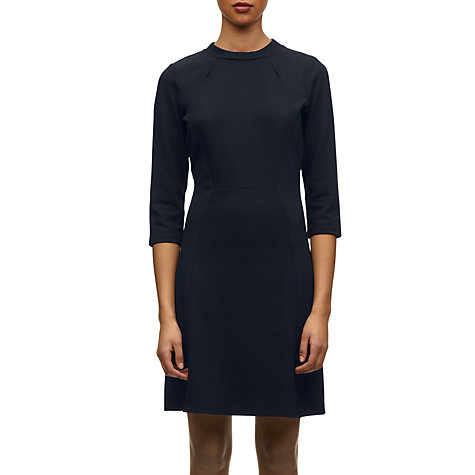 Buy Whistles Georgia Jersey Dress, Navy Online at johnlewis.com