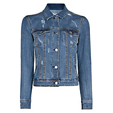 Buy Mango Denim Jacket, Medium Blue Online at johnlewis.com