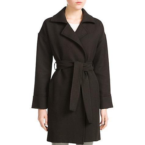 Buy Mango Bow Textured Coat, Black Online at johnlewis.com