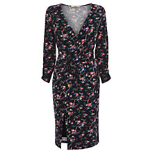 Buy Oasis Rose Garden Print Twist Dress, Multi Online at johnlewis.com