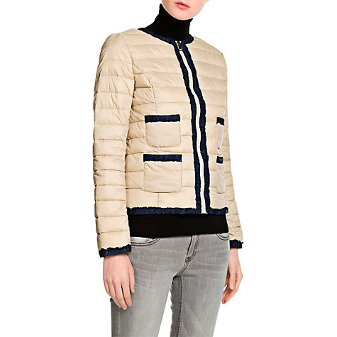 Buy Mango Quilted Coat, Light Beige Online at johnlewis.com