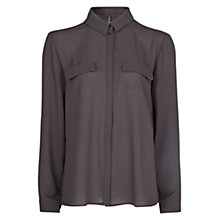 Buy Mango Crepe Blouse, Dark Grey Online at johnlewis.com