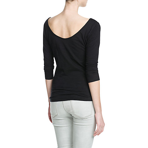 Buy Mango Cotton Slub T-Shirt Online at johnlewis.com