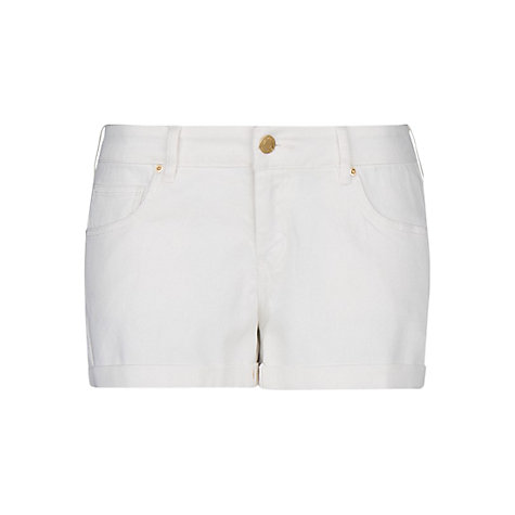 Buy Mango Mid-Rise Denim Shorts, White Online at johnlewis.com