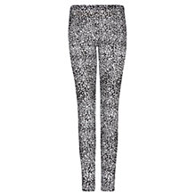 Buy Mango Animal Print Leggings, Black Online at johnlewis.com