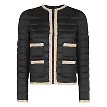 Buy Mango Foldable Long Sleeve Coat, Black Online at johnlewis.com