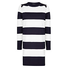 Buy Mango Straight Cut Striped Dress, Navy Online at johnlewis.com
