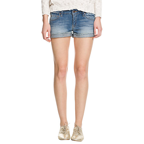 Buy Mango Denim Shorts, Light Pastel Blue Online at johnlewis.com