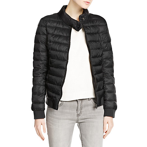 Buy Mango Ultra Light Foldable Coat, Black Online at johnlewis.com