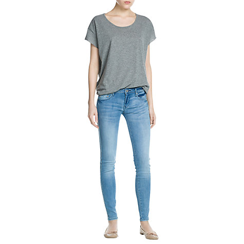 Buy Mango Uptown Jeans, Medium Blue Online at johnlewis.com
