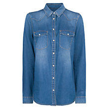 Buy Mango Dark Wash Denim Shirt, Dark Blue Online at johnlewis.com
