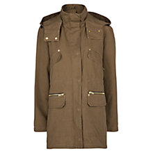 Buy Mango Parka Coat, Medium Beige Online at johnlewis.com