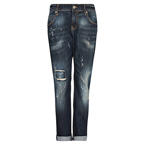 Buy Mango Lonny Dark Wash Boyfriend Jeans, Navy Online at johnlewis.com