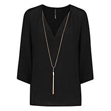 Buy Mango Necklace Flowy Top Online at johnlewis.com