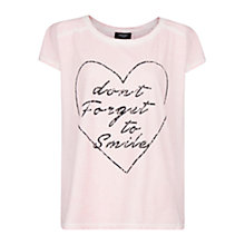 Buy Mango Distressed T-Shirt, Medium Pink Online at johnlewis.com