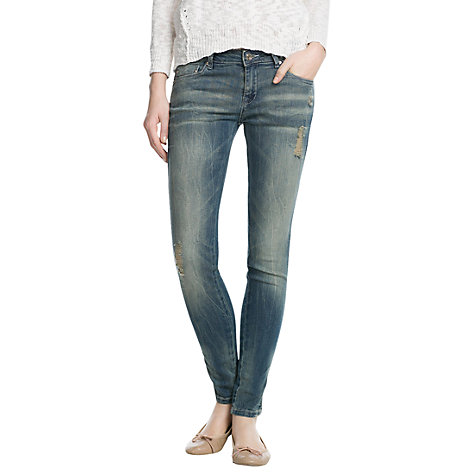 Buy Mango Uptown Push Up Jeans, Light Dirty Online at johnlewis.com