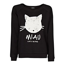 Buy Mango Miau Cotton Sweatshirt Online at johnlewis.com